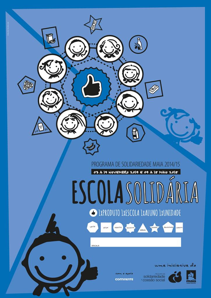 """[:pt]Cartaz Escola Solidária[:en]Poster """"Escola Solidária"""" [solidary school][:]"""