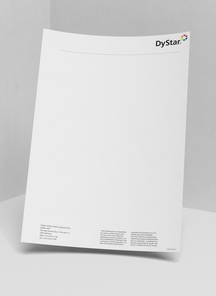 Dystar Papel de CartaDystar stationery